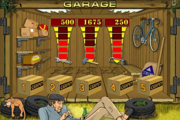 Игровой автомат Гараж от Игрософт - гаражные посиделки в компании с котом
